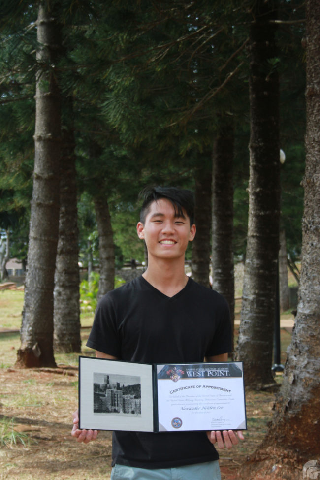 (Anika Ramos | Trojan Times) In addition to getting a reccomendation by Senator Brian Schatz, Cadet Lt. Col. Alexander Lee (12) was also awarded a presidential nomination.