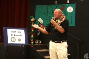 (Katie Hashimoto   Trojan Times) Brummel's move to Complex Area Superintendent was not a surprise with 26 years as a teacher and principal in Missouri before coming to Hawaii.